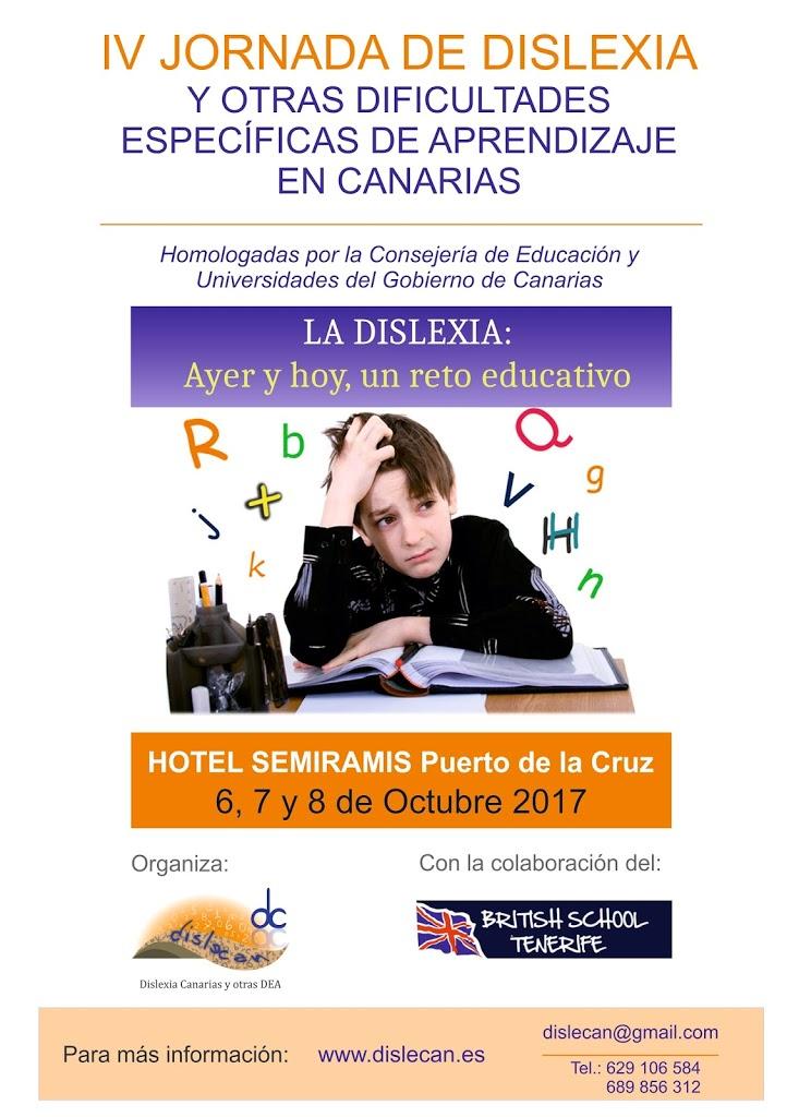 IV JORNADAS DE DISLEXIA EN CANARIAS